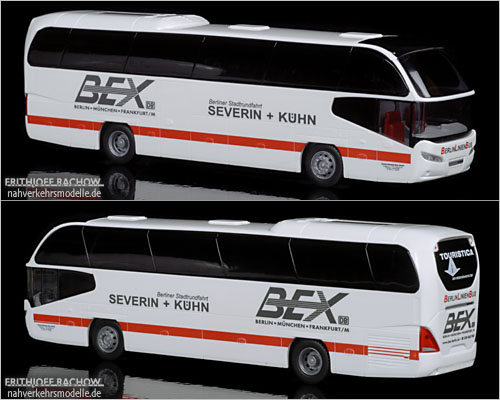 Rietze Neoplan Cityliner Model 2007 BEX Bayern Express Berlin ICE Design