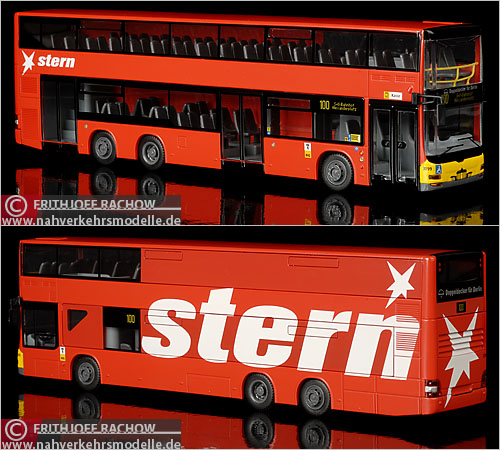 Rietze Doppeldecker Berlin Stern Magazin Lion's City DD