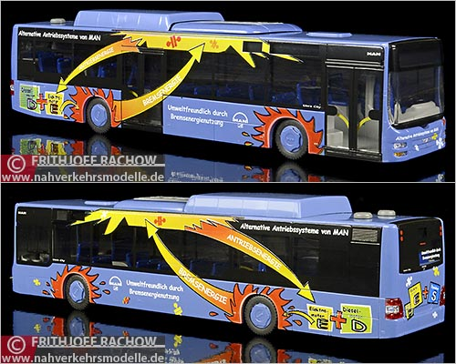 Rietze Busmodell Artikel 66287 M A N Lions City hybrid