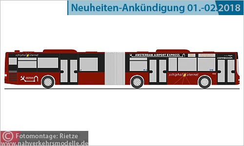 Rietze Busmodell Artikel 72761 M A N Lions City G Connexxion Sternet Amsterdam Airport Express