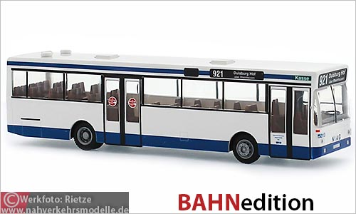 Rietze Busmodell Artikel 72109 M A N S L 202 Bahnedition NIAG Moers