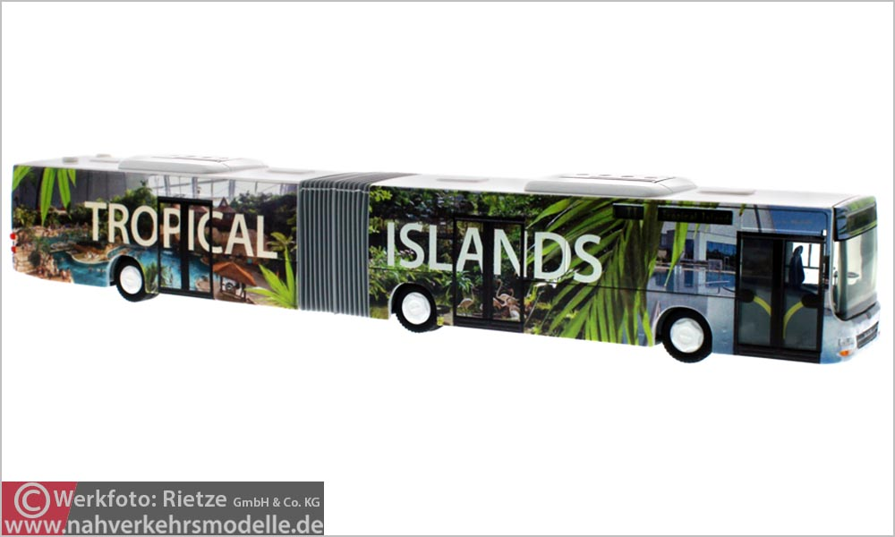 Rietze Busmodell Artikel 72755 M A N Lions City G Tropical Island