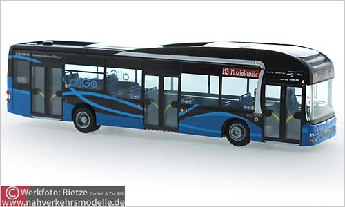 Rietze Busmodell Artikel 73201 M A N Lions City Hybrid 2015 Keolis Almere