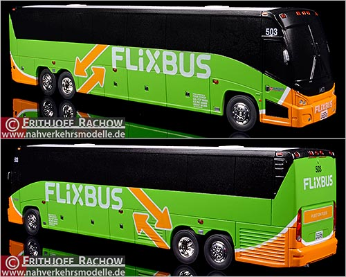 Iconic Replicas Busmodell Artikel 16005 Motor Coach Instustries J 4500 Tourcoach Charter & Tours Los Angeles Flixbus
